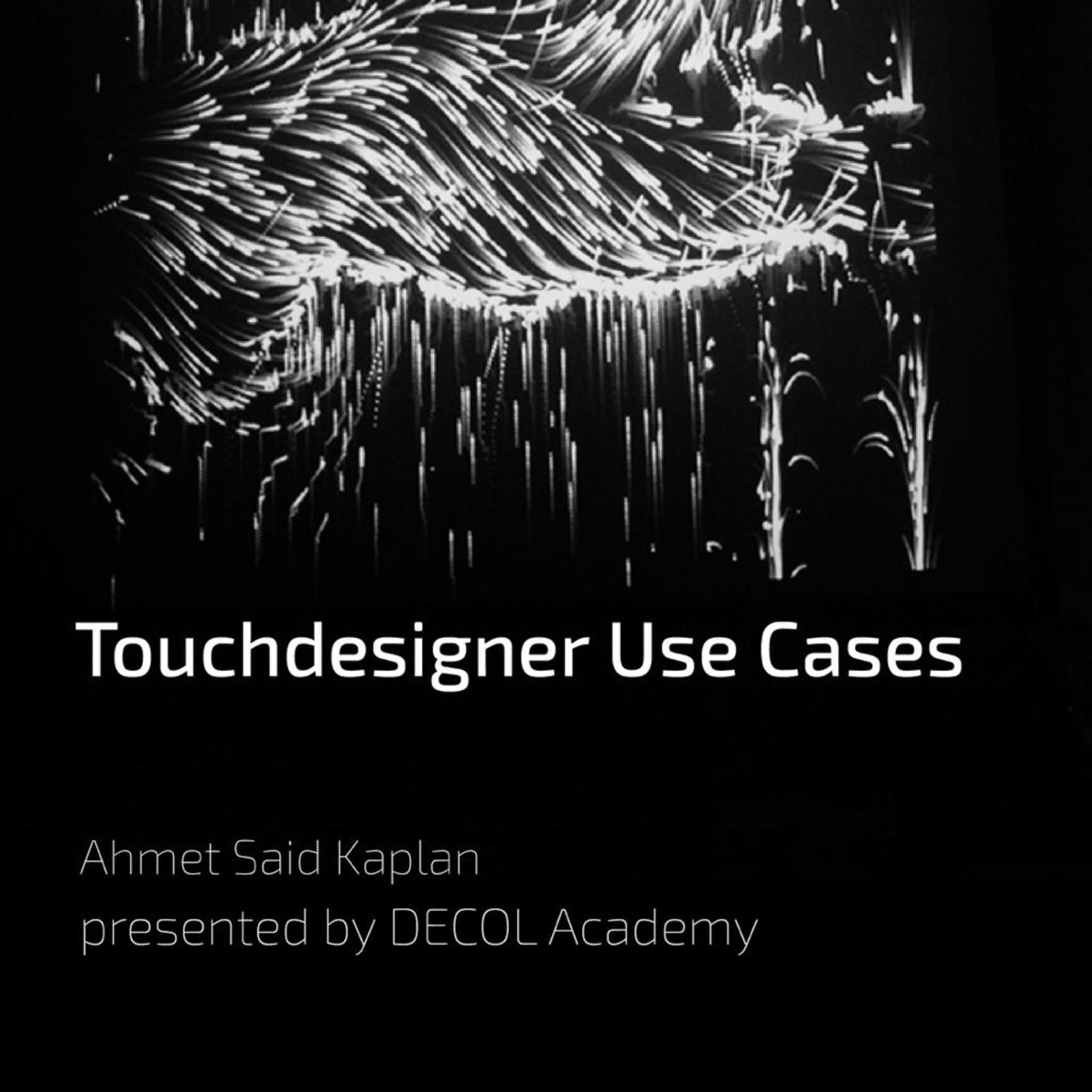 workshop: touchdesigner introduction by decol academy